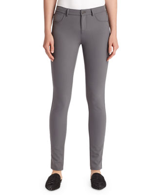 Mercer Acclaimed Stretch Mid-Rise Skinny Jeans, Shale