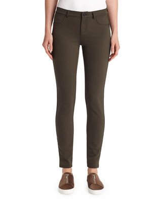 Mercer Acclaimed Stretch Mid-Rise Skinny Jeans in Dark Green