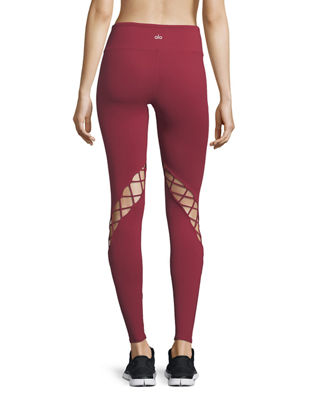 Image 2 of 4: Entwine Lace-Up Full-Length Leggings