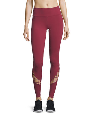Image 1 of 4: Entwine Lace-Up Full-Length Leggings