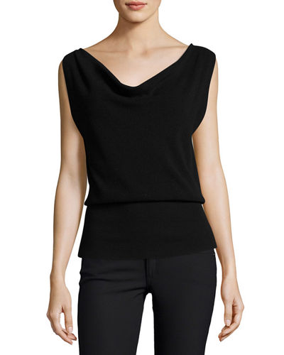 Prosecco Cowl-Neck Sleeveless Sweater