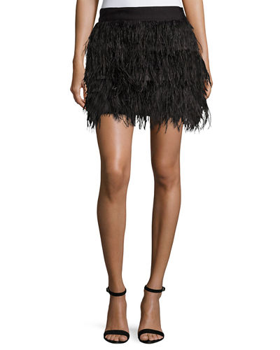 Milly Ostrich Feather Miniskirt and Matching Items