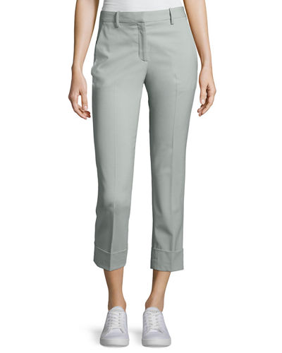 Theory Crop Mid-Rise Cuff Pants