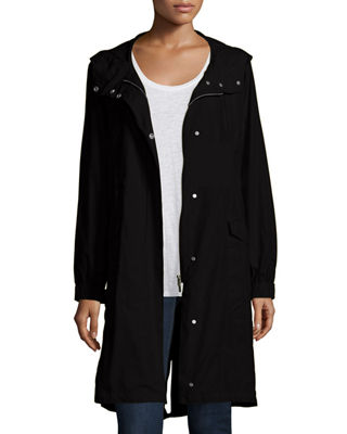 Image 1 of 3: Hooded Long Anorak Jacket