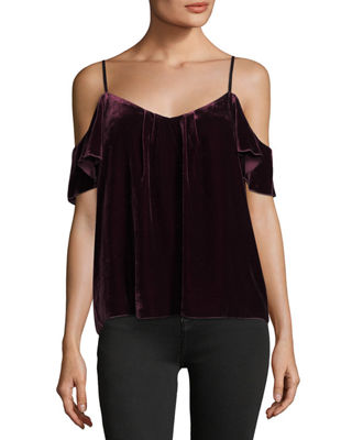 Joie Adorlee E Cold-Shoulder Velvet Top