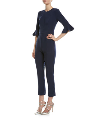 Brooklyn 3/4-Bell-Sleeve Jumpsuit