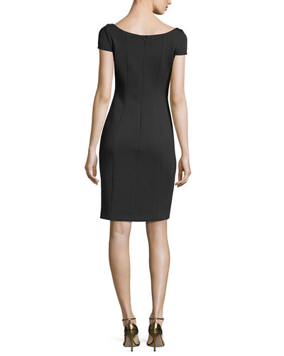 Bernice Short-Sleeve Fitted Dress