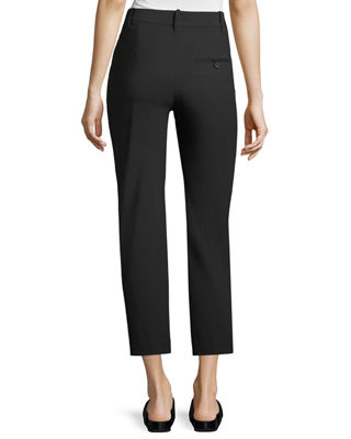 Image 2 of 2: Tapered Mid-Rise Straight-Leg Wool Trousers