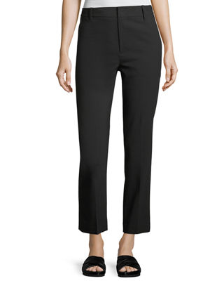 Image 1 of 2: Tapered Mid-Rise Straight-Leg Wool Trousers