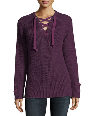 Image 1 of 3: Boundless Lace-Up Sweater