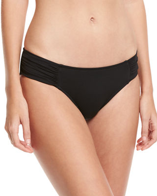Ruched-Side Retro Swim Bottom