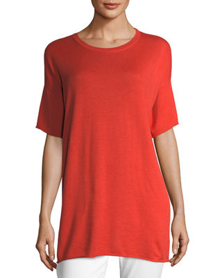 Eileen Fisher Half-Sleeve Organic Peruvian Cotton Tunic