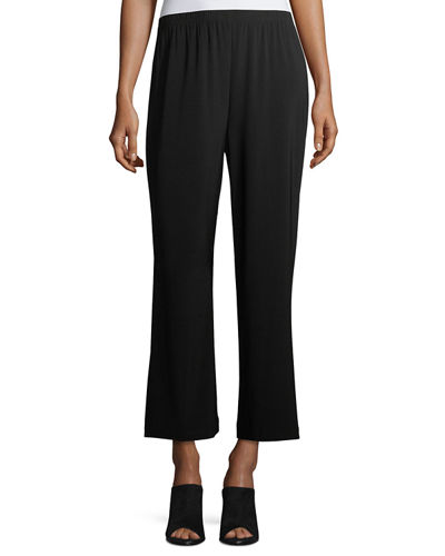 Plus Size Wide-Leg Ankle Pants