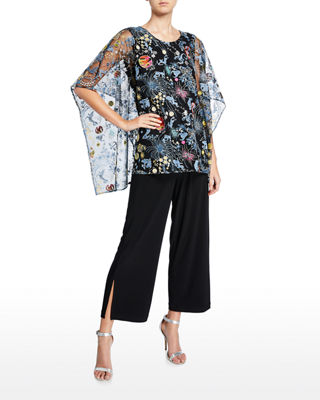 Caroline Rose Wide-Leg Ankle Pants