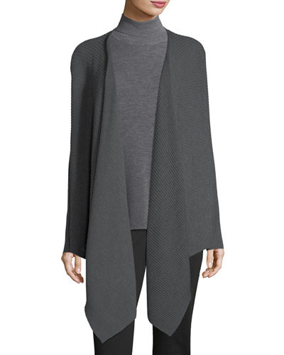Eileen Fisher Washable Wool Wrap Cardigan, Petite and