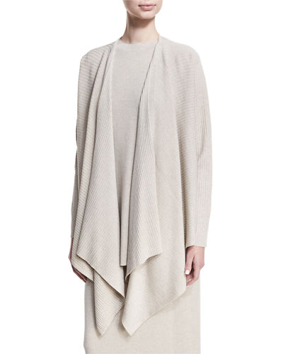 Eileen Fisher Washable Wool Wrap Cardigan, Petite