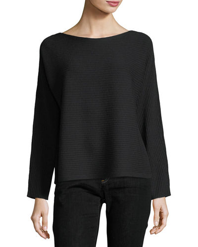 Eileen Fisher Washable Wool Box Top and Matching