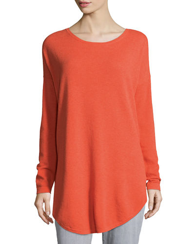 Eileen Fisher Long-Sleeve Waffle Tunic
