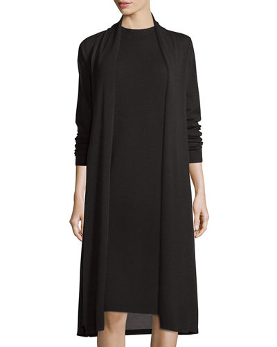 Eileen Fisher Washable Wool Kimono Duster Cardigan, Plus