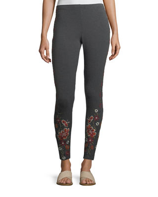 Johnny Was Waleska Embroidered Leggings, Plus Size