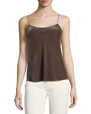 WOMAN VELVET CAMISOLE TAUPE