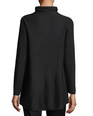 Sleek Scrunch-Neck Knit Top, Petite