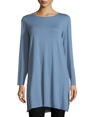 Long-Sleeve Lightweight Viscose Jersey Tunic