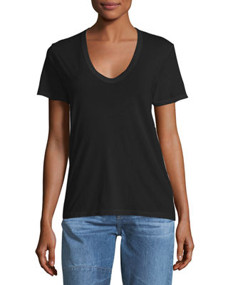 Image 1 of 2: Henson V-Neck Cotton Tee