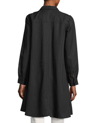 Image 2 of 3: Long-Sleeve Button-Front Shirtdress