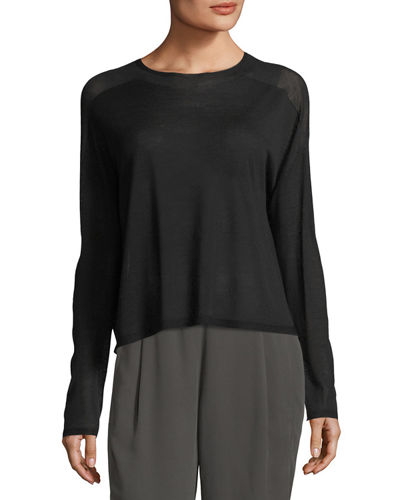 Eileen Fisher Seamless Sleek Funnel-Neck Top
