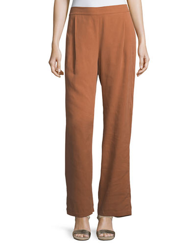 Eileen Fisher Woven Tencel® Grain Pants and Matching
