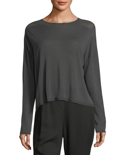 Eileen Fisher Crinkled Crepe Camisole Dress, Plus Size