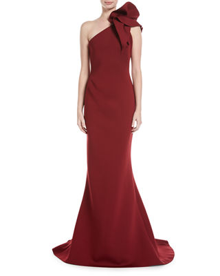 Jovani One-Shoulder Bow Mermaid Gown