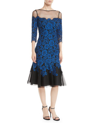 Rickie Freeman for Teri Jon Lace Illusion Dress