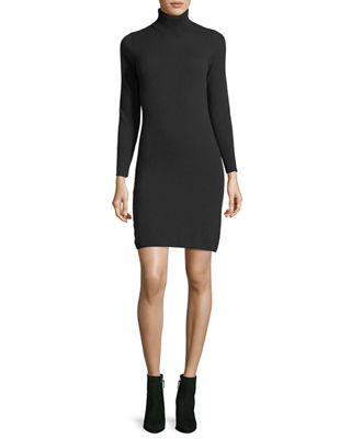 Long-Sleeve Turtleneck Cashmere Dress