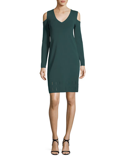 NIC+ZOE Peeking Out Cold-Shoulder Knit Dress