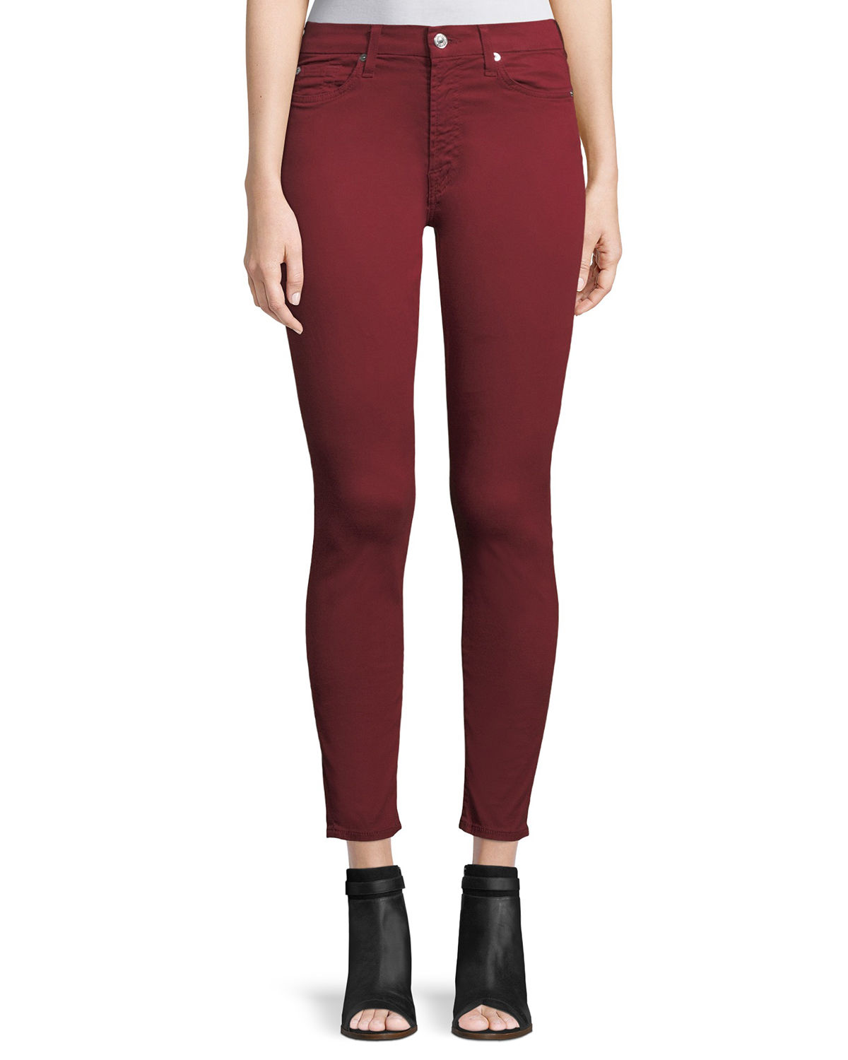 The Ankle Skinny Mid-Rise Cropped Jeans