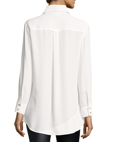 Image 3 of 3: Finley Jenna Tiered Crepe Blouse