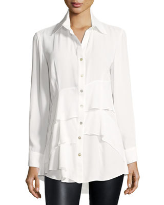 Finley Jenna Tiered Crepe Blouse