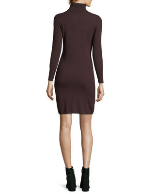 Image 2 of 2: Long-Sleeve Turtleneck Cashmere Dress, Plus Size