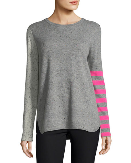 Lisa Todd Plus Size Pop Rocks Cashmere Striped Sweater