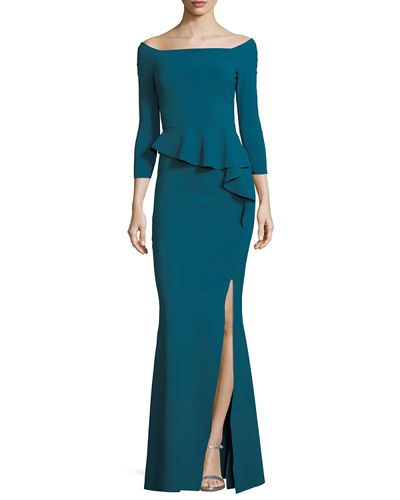 Chiara Boni La Petite Robe Adela Off-the-Shoulder Asymmetric