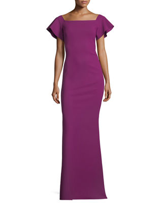 Chiara Boni La Petite Robe Anselma Cap-Sleeve Off-the-Shoulder