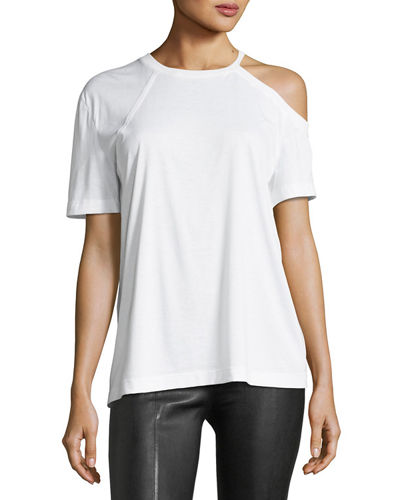 Helmut Lang Deconstructed Crewneck Cotton Tee and Matching