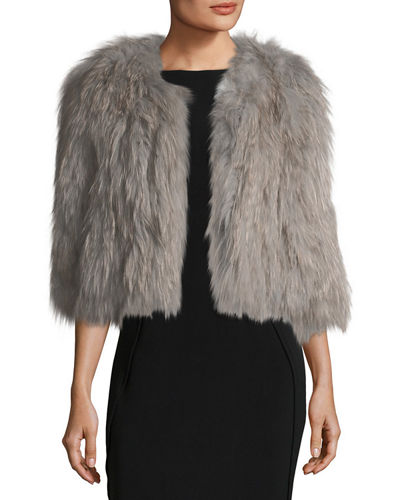 Silver Fox Short Bolero Coat