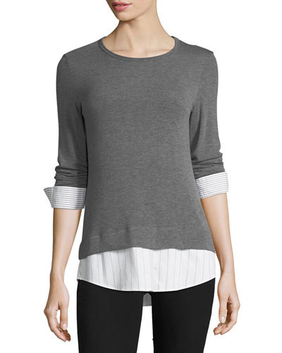 Bailey 44 Elizabeth III Long-Sleeve Combo Sweater