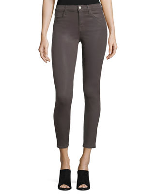 J Brand Alana High - rise Cropped Coated Jeans