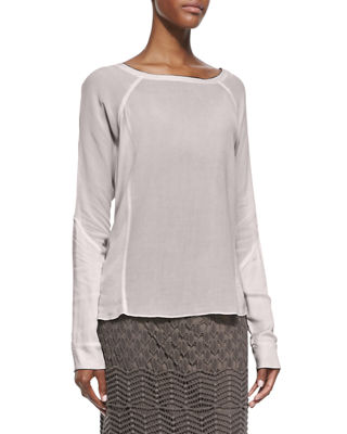 XCVI Long-Sleeve Crepe Blouse