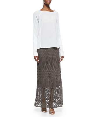 Image 2 of 3: Cecilia Crochet Skirt, Plus Size