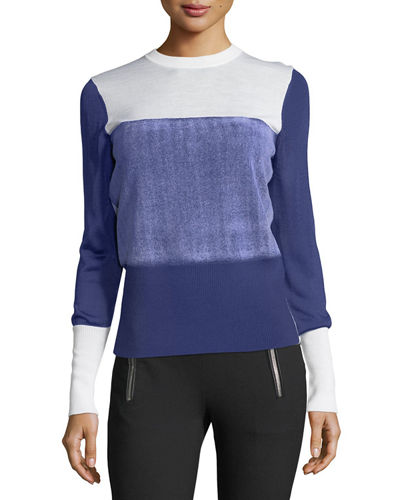 Rag & Bone Marissa Crewneck Colorblock Sweater